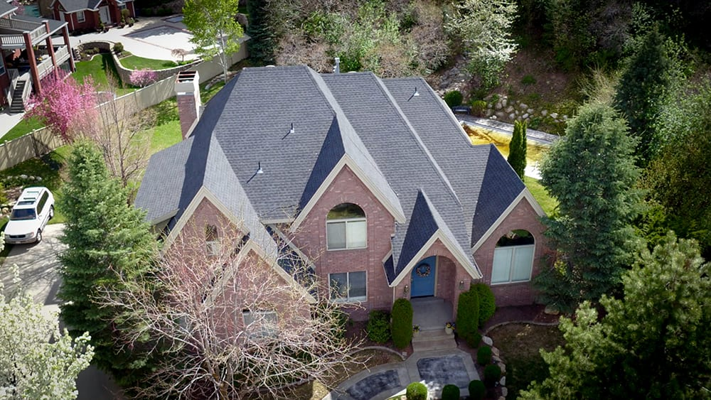 A steep roofing project in a Salt Lake City Neighborhood.