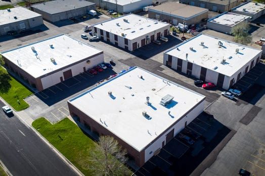 Commercial Roofing Contractor Jobsite West Salt Lake City, Utah.